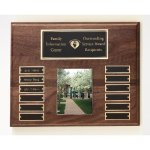 Walnut Perpetual Photo Plaque Achievement Awards