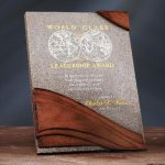 Wave Moonstone Plaque Achievement Awards