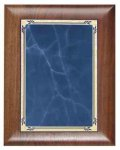 Scallop Walnut Plaque with Blue Marble Plate Achievement Awards