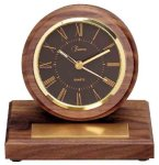 American Walnut Round Clock with Pen Achievement Awards