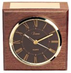 American Walnut Square Clock Achievement Awards