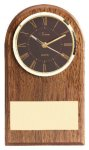 American Walnut Slanted Arch Clock Achievement Awards