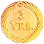 3 Year Pin Chenille Lapel Pins