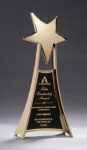 Star Casting Trophy in Gold Tone Finish Employee Awards